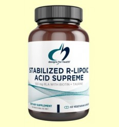 Stabilized R-Lipoic Acid Supreme - Àcid R-lipoic - Designs for health - 60 càpsules