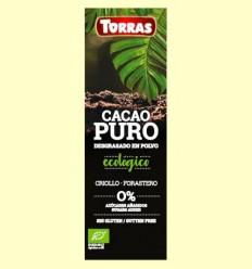 Cacau Pur desgreixat en Pols - Torras - 150 grams