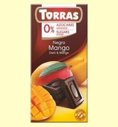 Xocolata Negre amb Mango sense Sucre - Torras - 75 grams