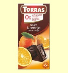 Xocolata Negre amb Taronja sense Sucre - Torras - 75 grams