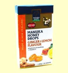 Caramels de Mel de Manuka MGO 400 + amb Gingebre i Llimona - Manuka World - 65 grams