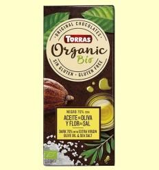 Xocolata Negre 70% amb Oli d'Oliva i Flor de Sal - Torras - 100 grams