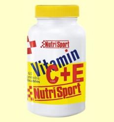 Vitamin C + E - Nutrisport - 60 comprimits masticables
