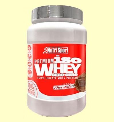 Iso whey zero, zero Xocolata - Nutrisport - 1kg