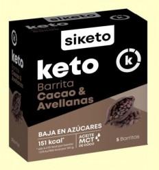Keto Barretes Cacau i Avellanes - Siketo - 5 barretes