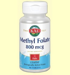 Methyl folate 800 mcg - Laboratorios Kal - 90 comprimits