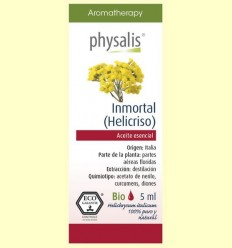 Oli Essencial Immortal Helicriso Bio - Physalis - 5 ml