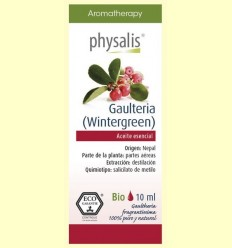 Oli Essencial gaulteria Wintergreen Bio - Physalis - 10 ml