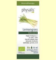 Oli Essencial Lemongrass Bio - Physalis - 10 ml
