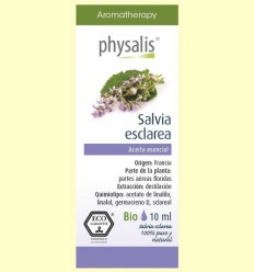 Oli Essencial Salvia Esclarea Bio - Physalis - 10 ml