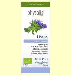Oli Essencial Hisop Bio - Physalis - 10 ml