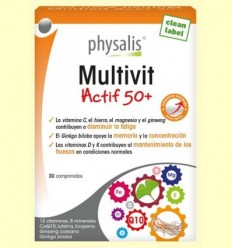 Multivit Actif 50 + Physalis - 30 comprimits
