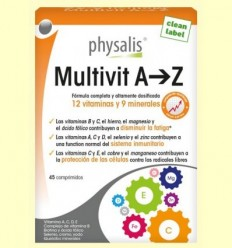 Multivit A-Z - Physalis - 45 comprimits