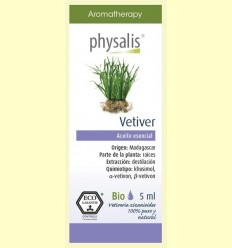Oli Essencial Vetiver Bio - Physalis - 5 ml