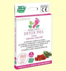 Pegats Detox Peus Rosa - DLG Salus - 4 unitats