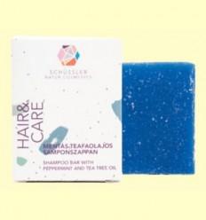 Barra d'Xampú Cabell Gras amb Menta i Arbre de el te - Schüssler - 90 grams