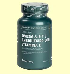 Omega TSN - Omega 3, 6 i 9 i Vitamina E - Herbora - 60 perles