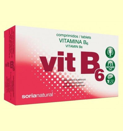 vitamina B6 - Soria Natural - 48 comprimits