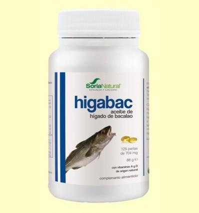 HigaBac - Oli de Fetge de Bacallà - Soria Natural - 125 perles