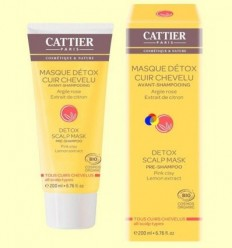 Mascareta Detox Cuir cabellut Prechampú Bio - Cattier - 200 ml