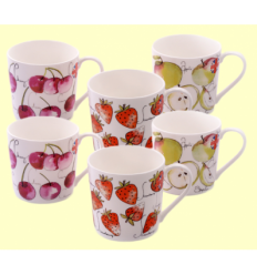 Tasses de Porcellana Fruit Mix - Cha Cult - 6 unitats