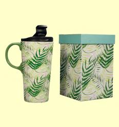 Tassa per dur Tropical de ceràmica amb tapa - Cha Cult - 400 ml