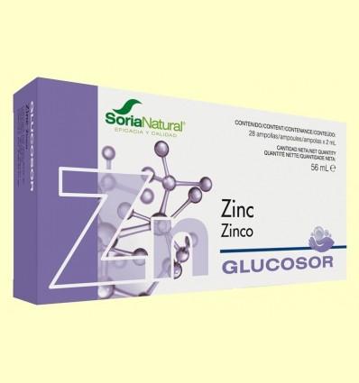 Glucosor Zinc - Soria Natural - 28 ampolles