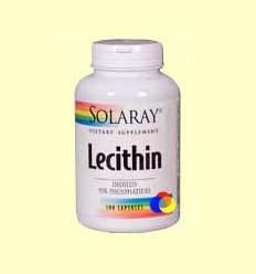 Lecithin Oil Free - Lecitina de soja - Solaray - 100 càpsules