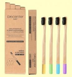 Pack de Raspalls de Dents Infantils de Bambú - Biocenter - 4 unitats