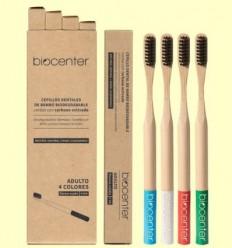 Pack de Raspalls de Dents de Bambú - Biocenter - 4 unitats