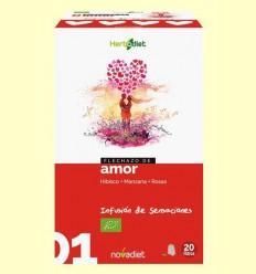 Enamorament d'Amor - Infusió de Hibisc Poma i Roses Bio - Novadiet - 20 filtres