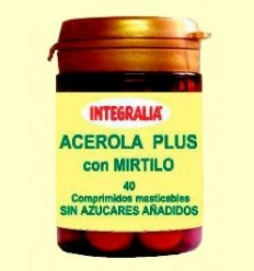 Acerola Plus amb Mirtil - Integralia - 40 comprimits