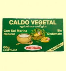 Caldo Vegetal Ecològic amb Sal Marina - Integralia - 6 pastilles