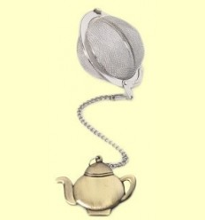 Colador Bola de Te amb figura a preparar te de bronze - Cha Cult - 5 centímetres
