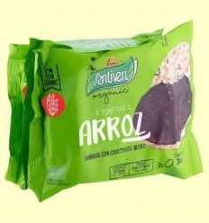 Galetes d'Arròs amb Xocolata Negra Bio - Santiveri - 6 unitats