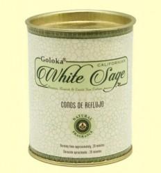 Cons de Encens White Sage - Goloka - 18 cons