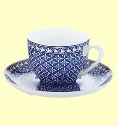 Tassa i Plat de Porcellana Blau Antonie - Cha Cult - 170 ml