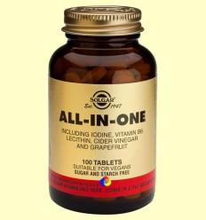 All in One - Iode - Vitamina B6 - Lecitina - Solgar - 100 comprimits