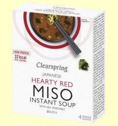 Sopa instantània Miso picant amb Algues - Clearspring - 4 x 10 grams