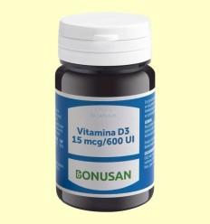 Vitamina D3 15mcg 600 UI - Bonusan - 90 càpsules