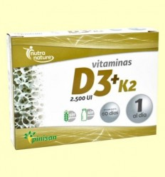 Vitamines D3 K2 - Pinisan - 60 càpsules
