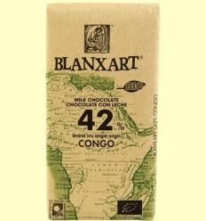 Xocolata amb Llet 42% Cacau Congo Bio - Blanxart - 125 grams