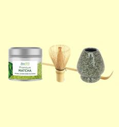 Matcha Experience Kit Green Grey - Te Matcha Batedor i Suport - Biotona - 1 unitat