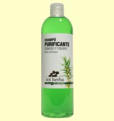 Xampú Anticaspa Purificant de Romaní i Ginebre - Tot herba - 500 ml