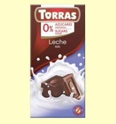 Xocolata amb Llet sense Sucre - Torras - 75 grams