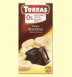 Xocolata Negre amb Banana sense Sucre - Torras - 75 grams