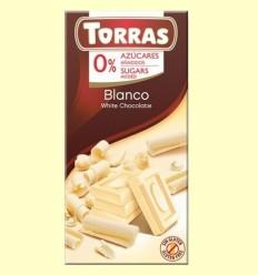 Xocolata Blanc sense Sucre - Torras - 75 grams