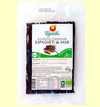 Espagueti de Mar - Alga Atlàntica Silvestre - Vegetalia - 50 grams