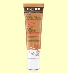 Crema Protecció Solar amb Color SPF50 - Cattier - 40 ml