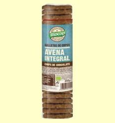Galetes de flocs de civada integral Xips Xocolata Bio - Biocop - 250 grams